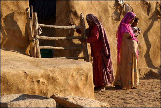 In a village of the Thar desert, not far from Jaisalmer.  Rajasthan.