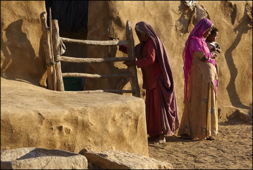 In a village of the Thar desert, not far from Jaisalmer.  Rajasthan.