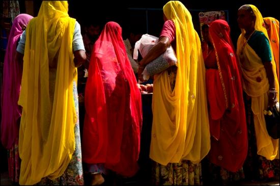 Saris. Pushkar. Rajasthan