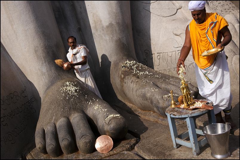 Offerings. Sravanabelagola. Karnataka