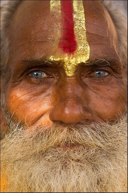 A Sadhu during a festival in Orchha. Madhya Pradesh.